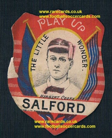 1890 Herbert Cooke Salford Red Devils The Little Wonder Baines card